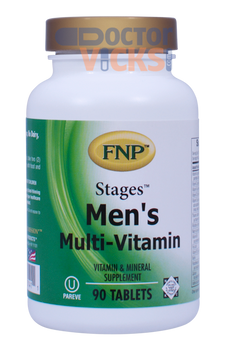 Freeda Vitamins - FNP - Stages Men's Multi-Vitamin - 90 Tablets - © DoctorVicks.com