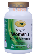 Freeda Vitamins - FNP - Stages Women's Multi-Vitamin - 90 Tablets - © DoctorVicks.com