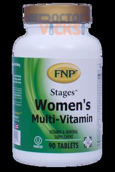 Freeda Vitamins - FNP - Stages Women's Multi-Vitamin - 90 Tablets - © DoctorVicks.com