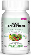 Maxi Health - Maxi Teen Supreme HERS - Multivitamin & Mineral - 60/120 MaxiCaps - DoctorVicks.com