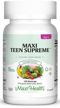 Maxi Health - Maxi Teen Supreme HERS - Multivitamin & Mineral - 60/120 MaxiCaps - DoctorVicks.com
