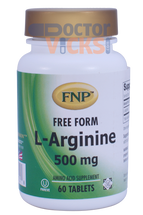 Freeda Vitamins - FNP - L-Arginine 500 mg - 60 Tablets - © DoctorVicks.com
