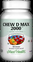 Maxi Health - Chew-D-Max - Vitamin D3 2000 IU - Bubble Gum Flavor - 100/200 Chewies - DoctorVicks.com