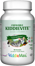 Maxi Health - KiddieMax - Chewable Kiddievite - Multivitamin & Mineral - Bubble Gum Flavor - 90 Chewies - DoctorVicks.com