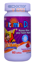 Uncle Moishy Vitamins - Vitamin D3 1000 IU - Berry Flavor - 60 Jellies - © DoctorVicks.com