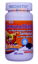 Uncle Moishy Vitamins - Immune Shield With Sambucus - Berry Flavor - 60 Jellies - New Bottle - © DoctorVicks.com