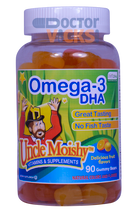 Uncle Moishy Vitamins - Omega-3 DHA Gummies - Fruity Flavor - 90 Gummies - © DoctorVicks.com