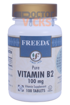 Freeda Vitamins - Vitamin B2 (Riboflavin) 100 mg - 100 Tablets - © DoctorVicks.com