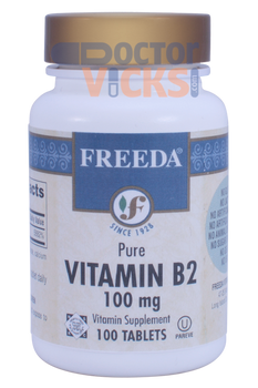 Freeda Vitamins - Vitamin B2 (Riboflavin) 100 mg - 100 Tablets - © DoctorVicks.com