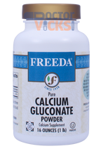 Freeda Vitamins - Calcium Gluconate Powder 1040 mg - 16 oz Powder - © DoctorVicks.com