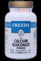 Freeda Vitamins - Calcium Gluconate Powder 1040 mg - 16 oz Powder - © DoctorVicks.com