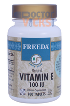 Freeda Vitamins - Vitamin E 100 IU - 100 Tablets - © DoctorVicks.com