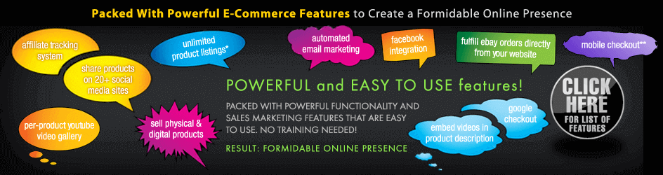 eCommerce Software Features