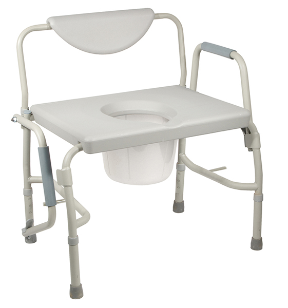 Bariatric Drop Arm Commode, Bariatric Commode