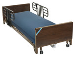 Delta Ultra Light Full Electric Low Hospital Bed with Half Rails and Therapeutic Support Mattress- 15235bv-pkg-1-t