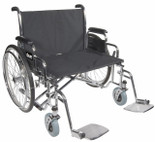 Bariatric Sentra EC Heavy-Duty, Extra-Extra-Wide Wheelchair with Elevating Leg Rest Front Riggings