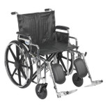 Bariatric Heavy Duty XL Wheelchair, Detachable Desk Arms, Elevating Leg Rests