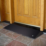 Rubber Threshold Ramp for Wheelchairs, Angled Threshold Entry Mat, EZ Access, 1.5 Inch