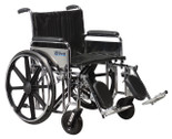 Sentra EC Heavy Duty Wheelchair, Detachable Full Arms, Elevating Leg Rests