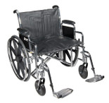 Sentra EC Heavy Duty Wheelchair, Detachable Full Arms, Swing away Footrests