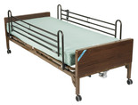 Delta Ultra Light Semi Electric Hospital Bed with Full Rails and Foam Mattress- 15030bv-pkg-2