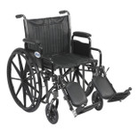 Silver Sport 2 Wheelchair with Detachable Desk Arms and Elevating Leg Rest - ssp220dda-elr| Free Shipping, Quick Delivery