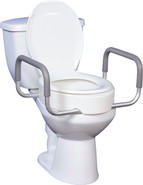 Premium Raised Toilet Seat with Removable Arms