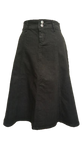 Everyday Black Denim Skirt