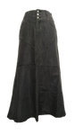 Fantastic Black Long Denim Skirt