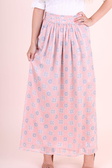 Maxi Skirt- Pink Medallion