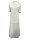 Ribbed skirt/top set, 1-size in white
