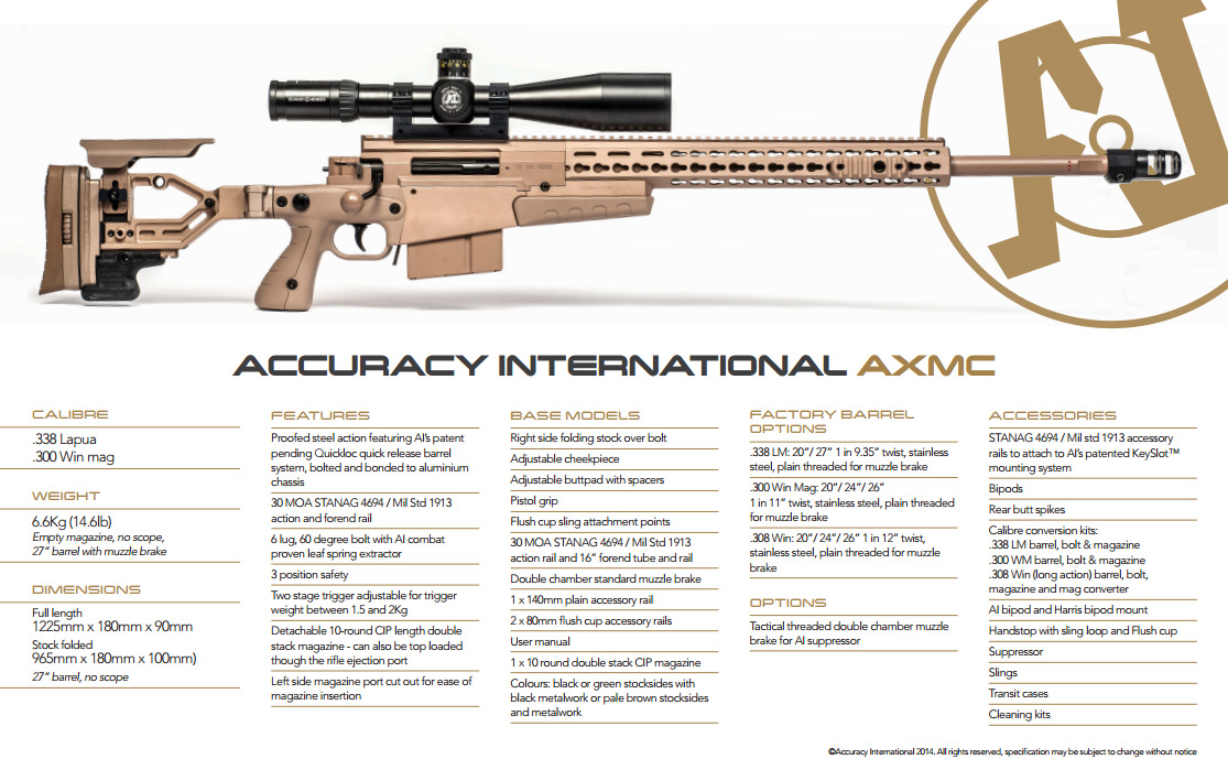 Accuracy International Axmc Adja Tactical