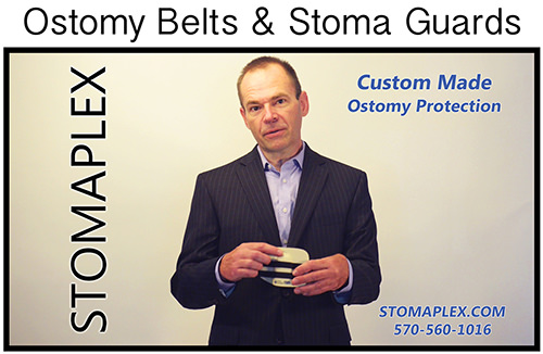Stomaplex ostomy belt and stoma guard for men who are interested in the finest ostomy protection available in the ostomy products market.