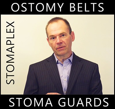 When men with an ostomy get dressed in clothing for work in the office they come across the problem of their waistband crossing over        their stoma. Instead of searching for ostomy clothing for men, wear the Stomaplex Ostomy Belt and Stomaplex Stoma Guard. This stoma protector        will cover your stoma with a contoured stoma guard. This will allow you to tighten your belt over your stoma.