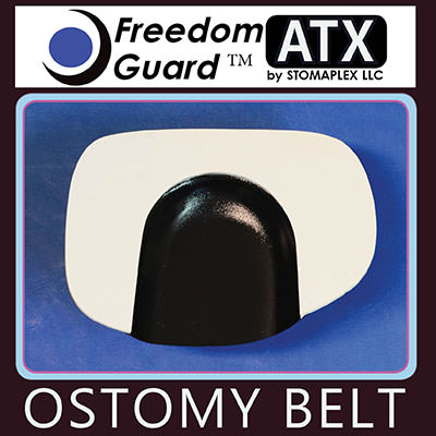 Ileostomy guards for women.  The Freedom-Guard ATX is the recommended stoma guard by Stomaplex.  The soft neoprene pad with nylon fabric makes this the softest stoma protector. This ostomy support belt and stoma guard is recommended for those looking to the best value. This stoma protection will be your ostomy clothing solution.