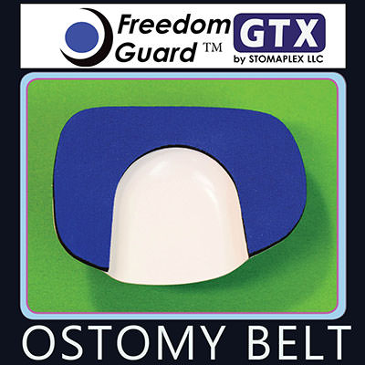 Stomaplex stoma protector is for colostomy patients.  The Freedom-Guard GTX is the original stoma guard by Stomaplex.  The soft neoprene pad with nylon fabric makes this the softest stoma protector. This ostomy support belt and stoma guard is recommended for those looking to the best value. This stoma protection will be your ostomy clothing solution.