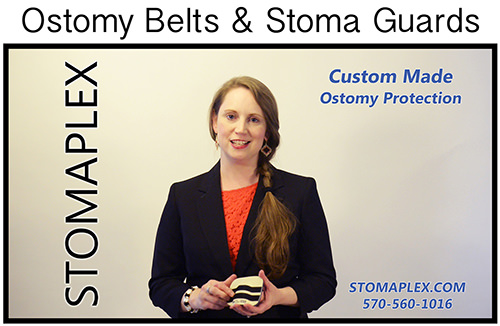 The Stomaplex ostomy belt and stoma guard is unique for women with an ostomy in that there are over 250 size available which means that the       stoma guard is going to fit perfectly over the stoma of your ostomy.