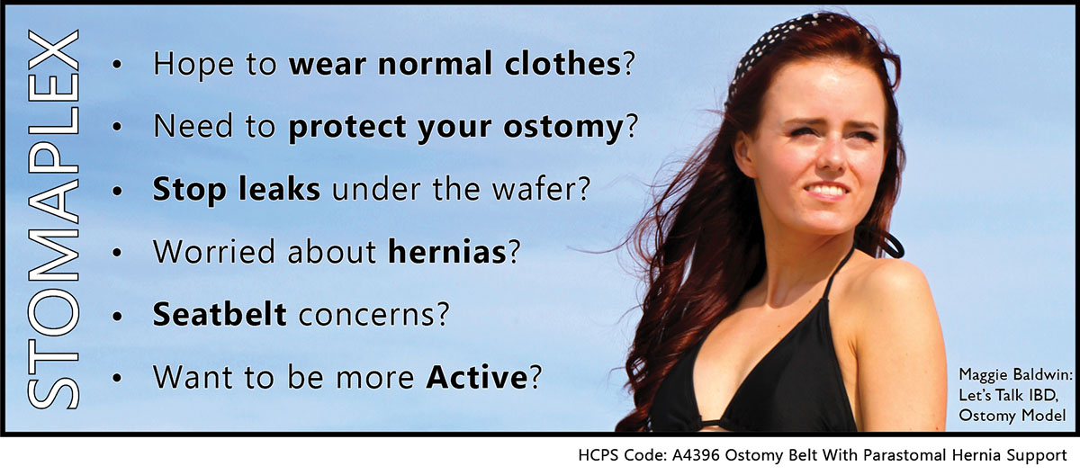 Do you need and ostomy belt to help prevent ostomy leaks? The Stomaplex ostomy belt and Stomaplex stoma guard work together to prevent leaks from forming under the ostomy appliance.