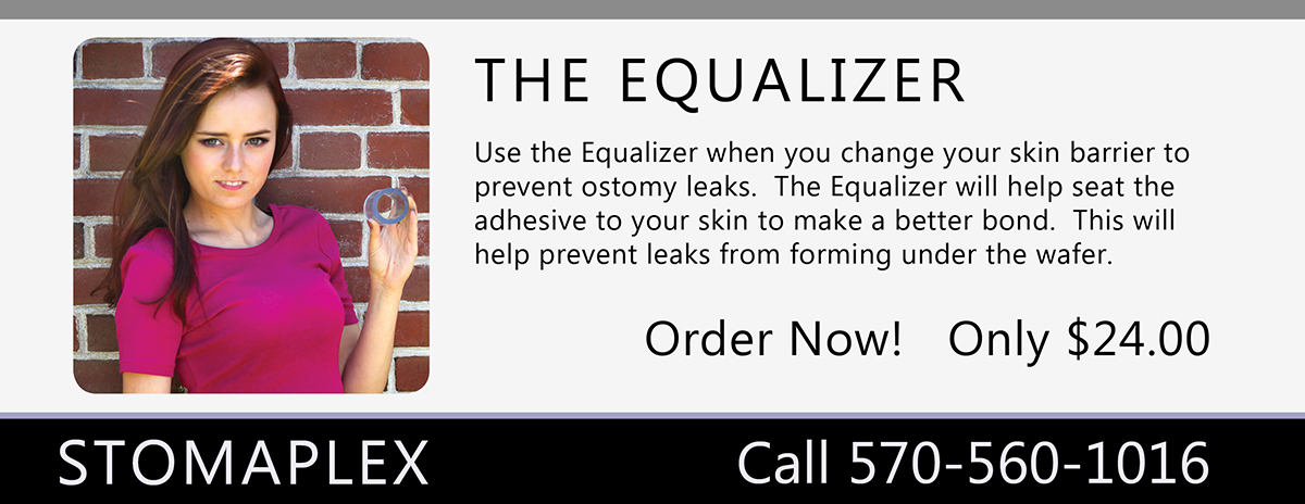 The Equalizer will help prevent leaks from forming under the ostomy wafer since                           it applies pressure on the ostomy appliance to help seat it to your skin.