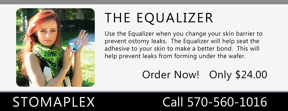 Stomaplex Ostomy Care: Choose the size of the Equalizer that fits you the best. The Equalizer will help prevent leaks from forming under the ostomy wafer since it applies pressure on the ostomy appliance to help seat it to your skin.