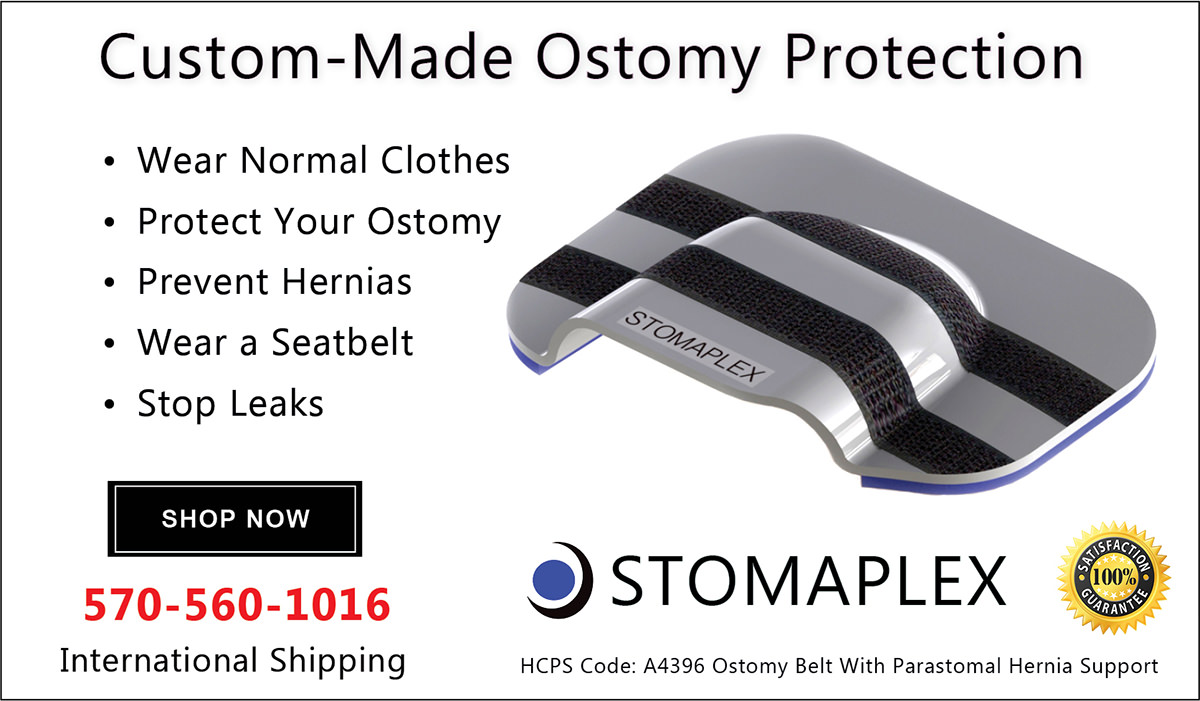 The active lifestyle in you will appreciate the Stomaplex stoma belt and stomaplex ostomy stoma guard that is designed for the ostomate with an active life.