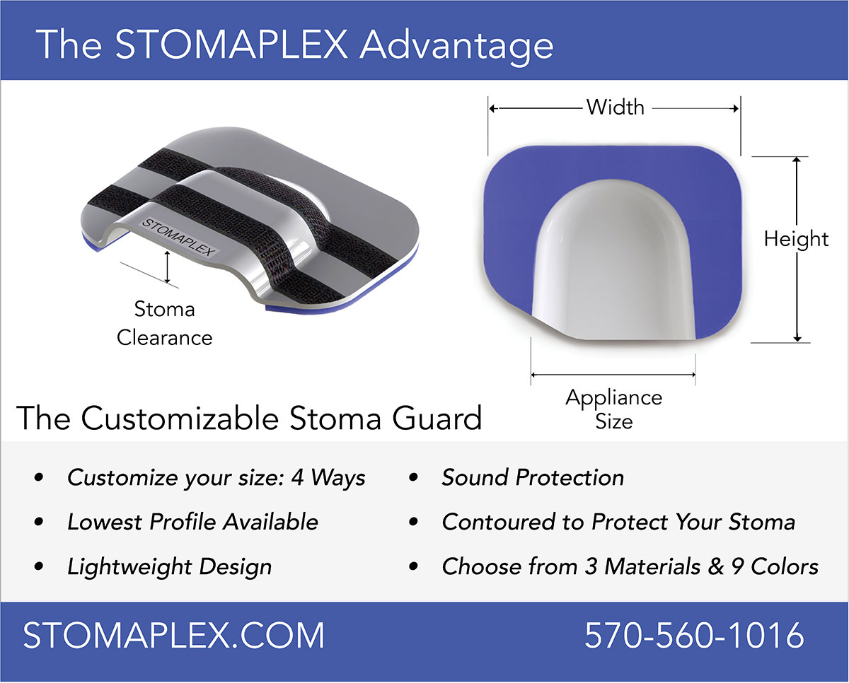 Looking to solve the ostomy clothing problem? So you need to wear normal clothing over your ostomy? The Pure-Comfort is the thinnest and lightest stoma guard available.                           Choose the Stomaplex ostomy belt and Stomaplex stoma guard to protect your ostomy.