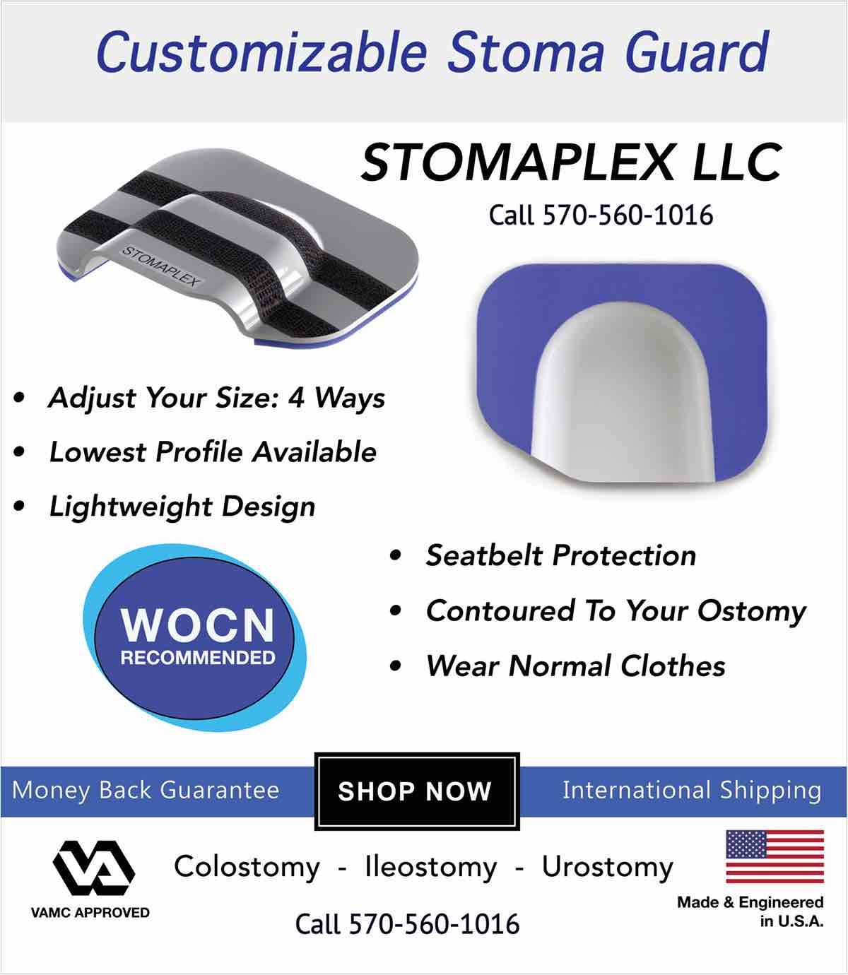 Stomaplex Ostomy Belt and Stomaplex Stoma Guard.