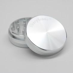 """SharpStone® Hard Top 2 Piece Grinder - 2.5"""" Silver"""
