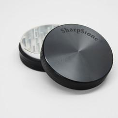"""Large SharpStone® Hard Top 2 Piece Grinder - 2.5"""" Black"""