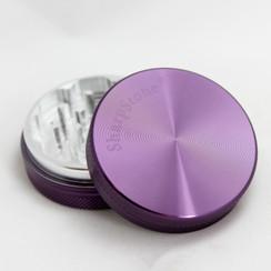 """SharpStone® Hard Top 2 Piece Herb Grinder - 2.2"""" Purple"""