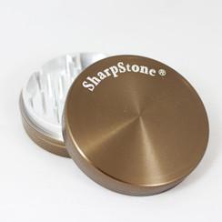 "Large SharpStone® Hard Top 2 Piece Grinder - 2.5"" Green"