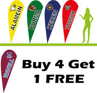 5 x 2.2m Teardrop School Flag Bundle