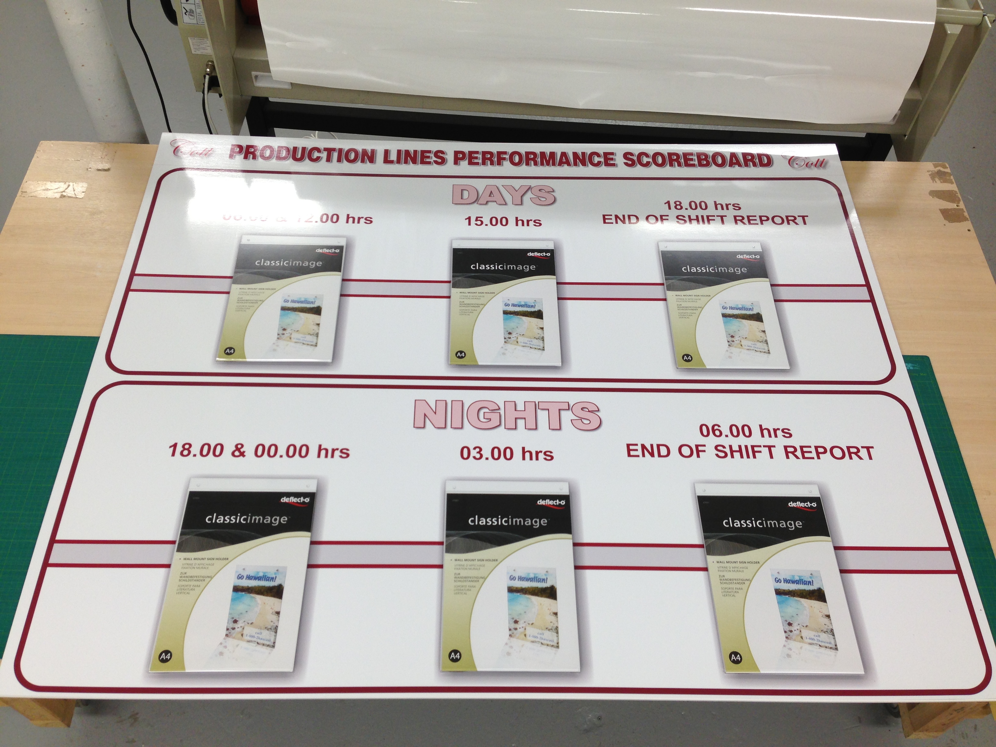 Production Boards Notice Boards Printed Whiteboards