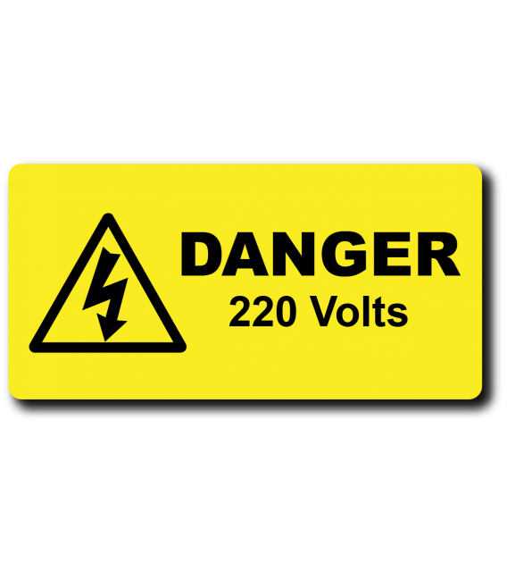 Engraved labels for danger voltage